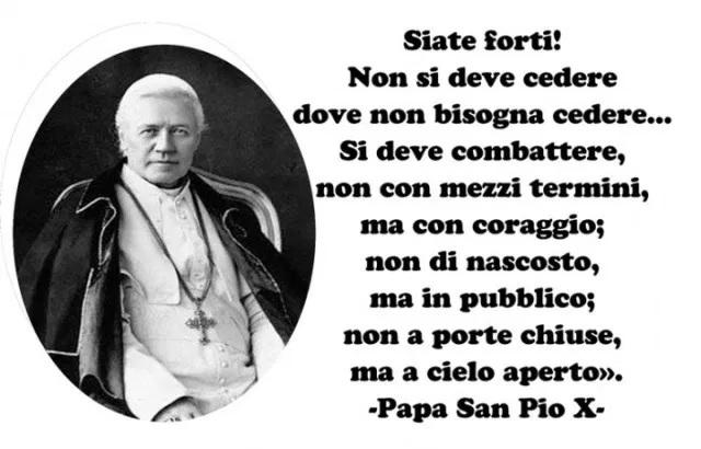 Papa San Pio X - combattere