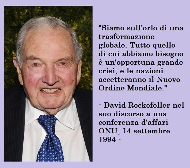 Rockefeller - Nuovo Ordine Mondiale