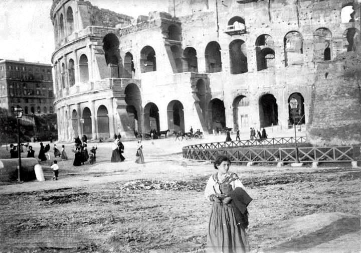 Roma, Colosseo, 1895, Roma ieri e oggi, grazie a Sergio Brunetti
