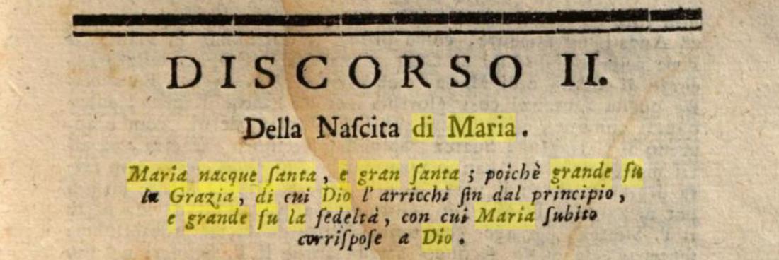 Della Nascita di Maria - S. Alfonso